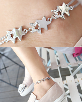 Non-sparkling anklets (ak020)