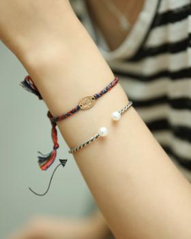 Freshwater pearl twist bracelet (br320)