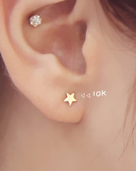 Gold Star earring (er655)