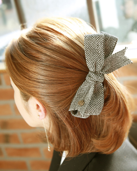 Woolen ribbon barrettes (hp249)