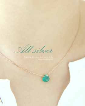 Green onyx gemstone Necklace (nk445)