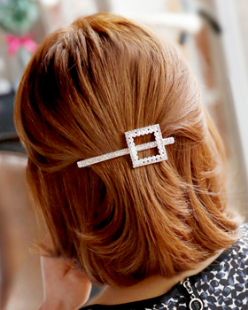 Square pearl hairpins (hp273)