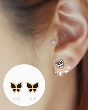 Black Purple earring (er1226)