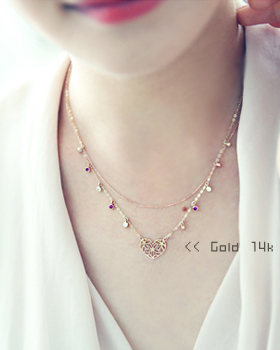 Ppyongppyong Heart Necklace (nk153)