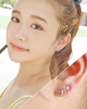 White earring (er365)