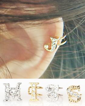 Ear cuff alphabet (er519)