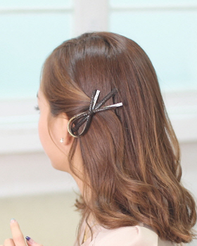 Fu Rooney bowknot hairpin (hp043)
