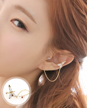 MD love earring (er237)