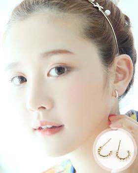 Line Cubic earring (er359)