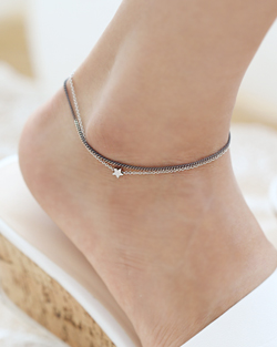 Chain line anklets (ak055)