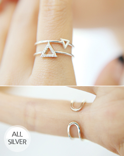 Two lines triangle Ring (rg353)