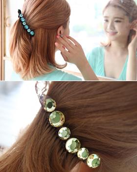 Orange beads hairpin (hp341)