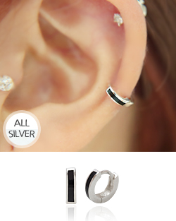 Black-touch earring (er1326)