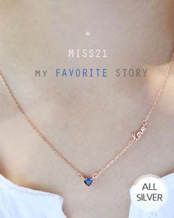 Sapphire Heart Necklace (nk465)