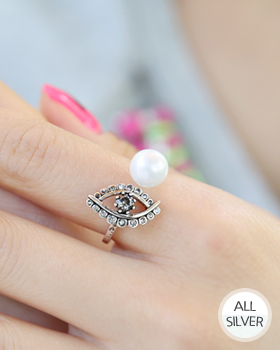 Evil Eye Silver Antique Ring (rg312)