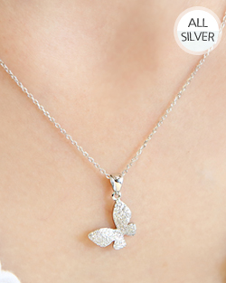 Cubic full butterfly Necklace (nk471)