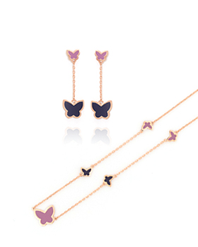 Two-tone butterflies Set (st076)