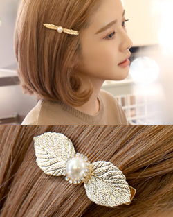 Golden Leaves hairpin (hp368)