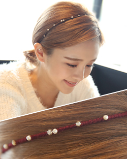 Mild pearl and cubic hairband (hb464)