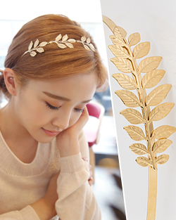 Gold leaf hairband (hb465)