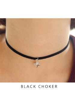 Three-dimensional star choker Necklace (nk479)