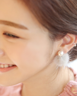 Mink dongle earring (er1427)