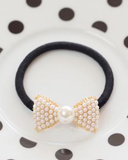 Alalyi pearl hair ribbon straps (hs291)