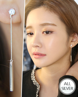 Swinging bar earring (er1413)