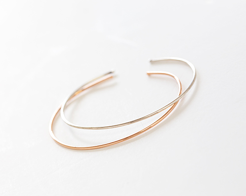 Yeori one silver bangle bracelet (br514)