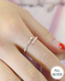 Silver Bamboo Ring (rg382)
