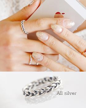 Silver Twist Ring (rg261)