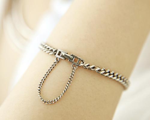 Silver chain bracelet (br395)
