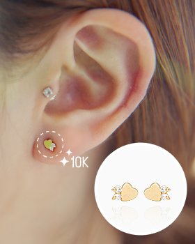 Heart Cubic next earring (er1227)