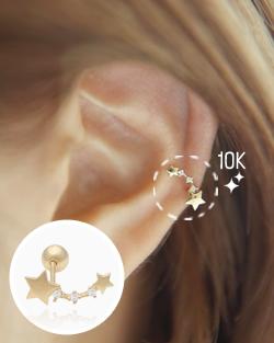 Piercing 10k per kkoribyeol (er1438)