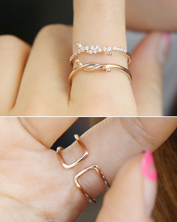 2 line knot Ring (rg375)