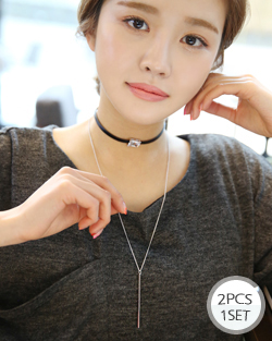 As chain choker Necklace (NK500)