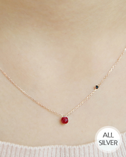 Red bean Necklace (nk496)