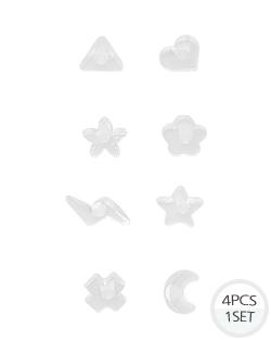 transparent piercing (er1371)
