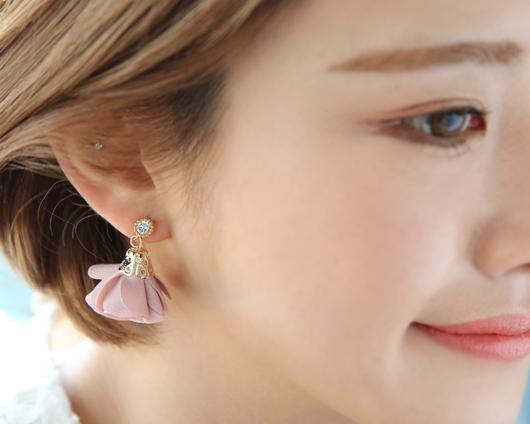 Flower tassel earring (er1509)