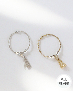 Gold and silver tassels's Ring (rg459)