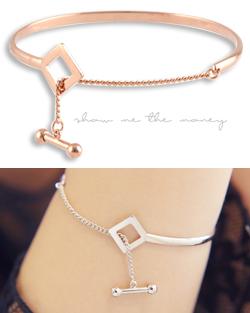 Aenba square ring bracelet (br576)