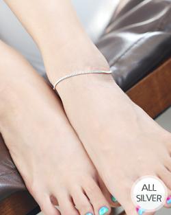 Silver2 pre-primary anklets (ak058)