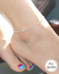 Bolwon silver anklets (ak060)