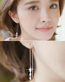 Long Eye Triple earring (er1533)