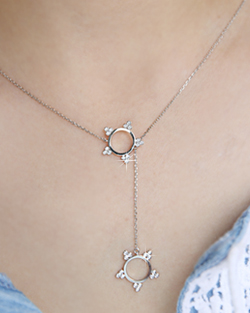 Y-shaped Vatican Round Necklace (nk512)