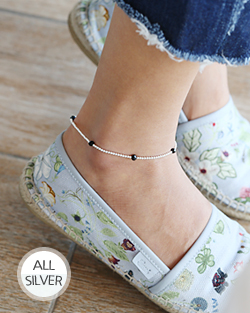 Elastic stone anklets (ak062)