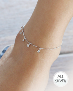 Cubic swaying anklets (ak061)