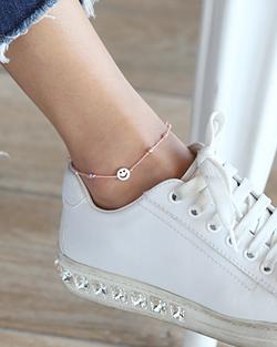 Smile anklet is adjustable (ak075)
