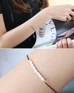 Flip freshwater pearl bracelet (br590)