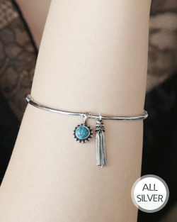 Gemstone tassel is bracelet (br588)